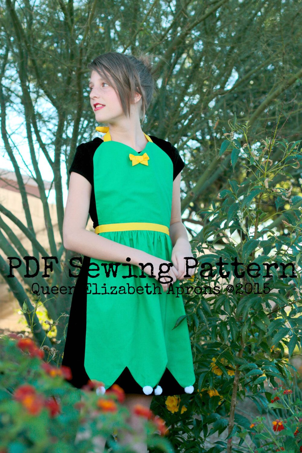 TINKERBELL Fairy Disney Princess inspired Costume Apron PDF Sewing ...