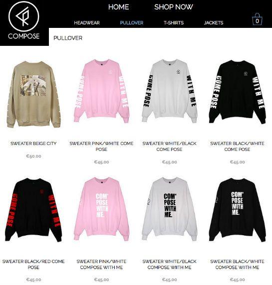 Ein Blick in den Online-Shop von Compose Clothing (Screenshot, Quelle:  Composeclothing