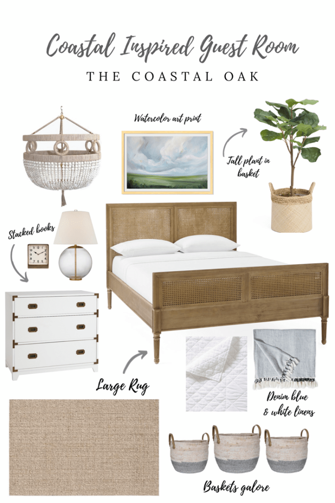 Coastal Inspired Bedroom - Splurge or Save - The Coastal Oak #coastalbedrooms