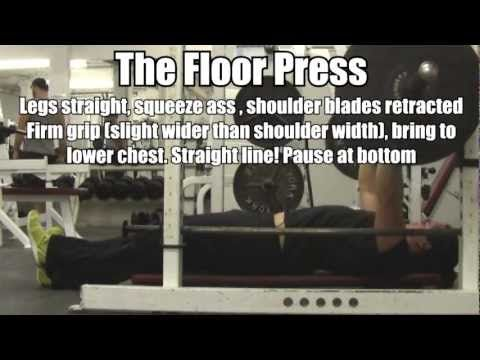 How To Perform The Floor Press: Best Bench Press For Upper Chest Size +  Strength
