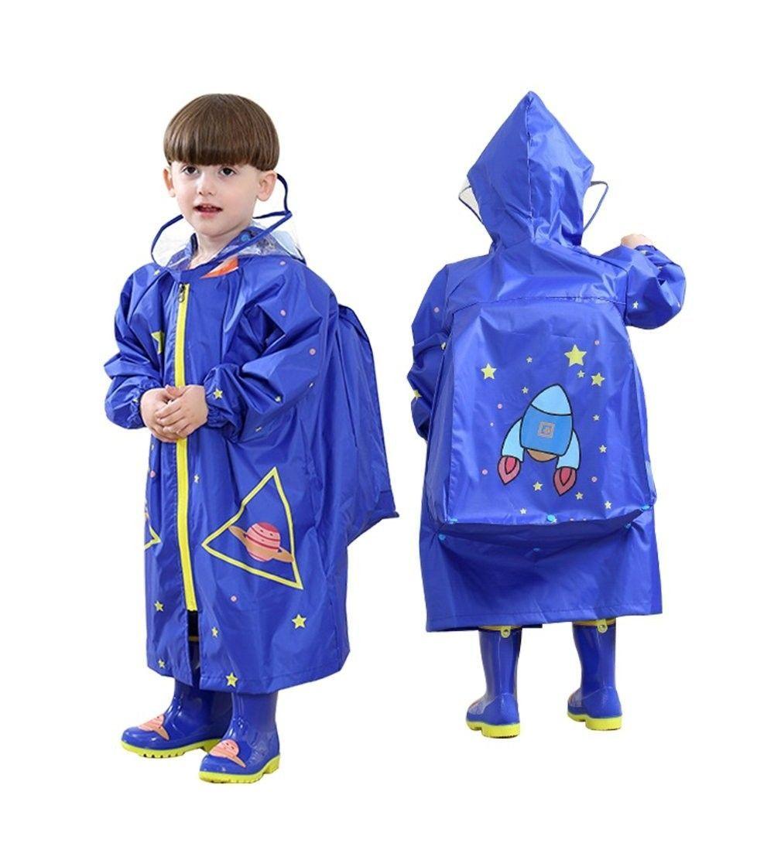Unisex Kids Raincoat 3 94 4 75ft  Blue Rocket  C6184TOWXHL Unisex Kids Raincoat 3 94 4 75ft  Blue Rocket  C6184TOWXHL  Outdoor Clothing Boys Jackets  Coats
