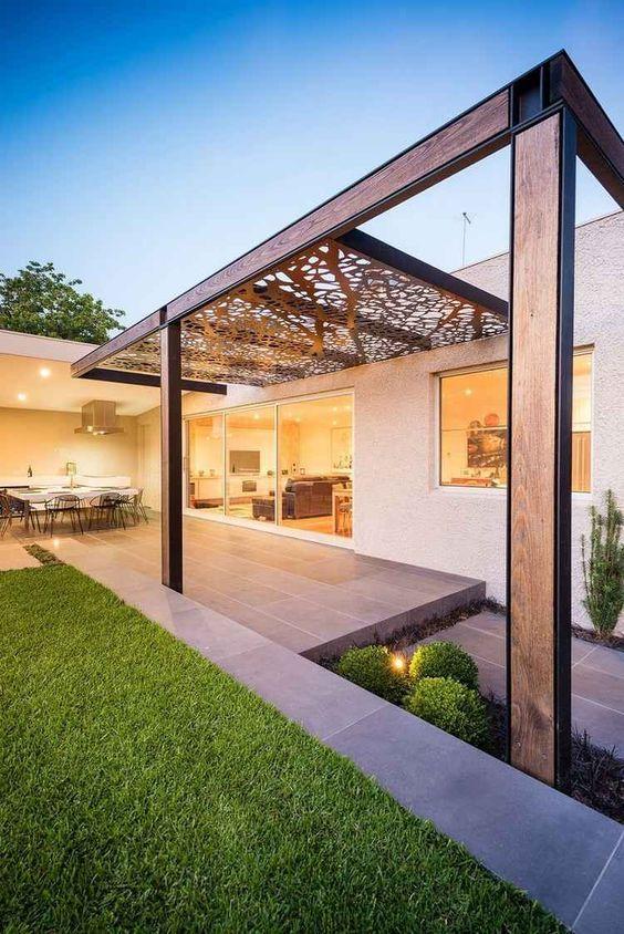 lasergeschnittene cortenstahl platten als dach garten in 2018 pinterest terrasse garten. Black Bedroom Furniture Sets. Home Design Ideas