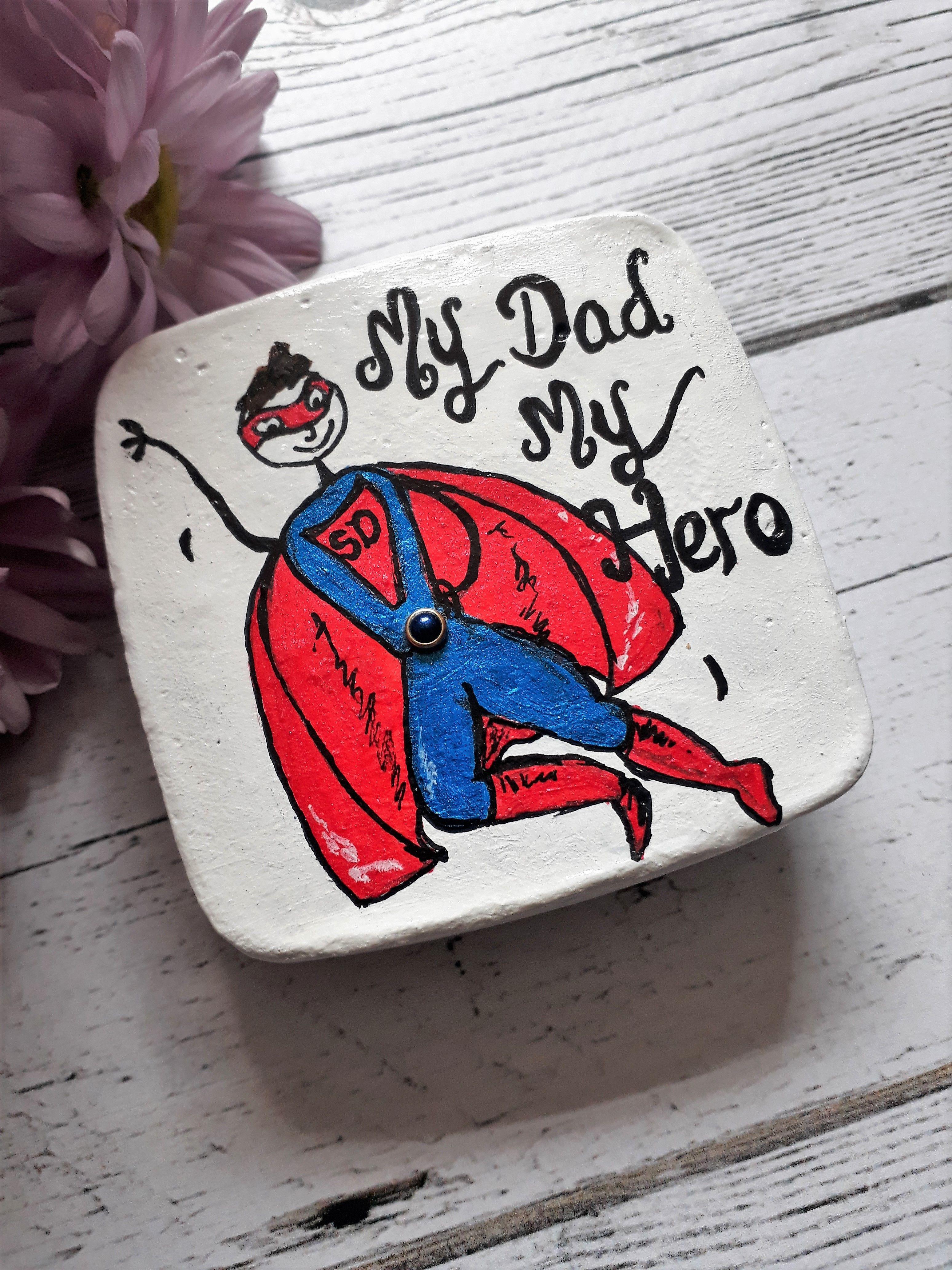 Fridge Magnet Birthday Father Gift Superdad World/'s Best Dad Keepsake.
