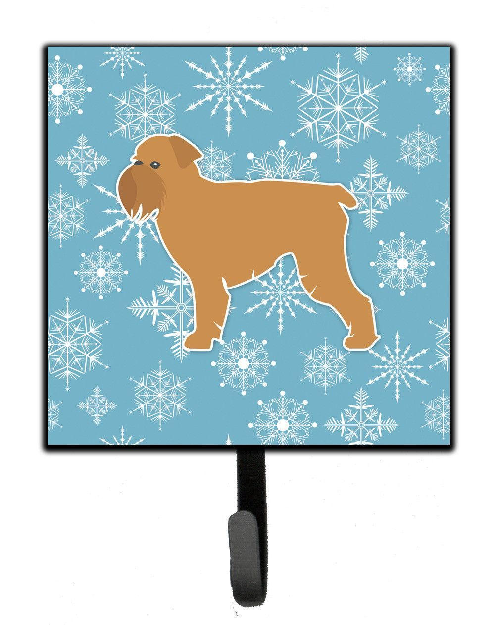 Winter Snowflake Brussels Griffon Leash Or Key Holder Bb3540sh4 Winter Snowflakes Carolines Treasures German Wirehaired Pointer