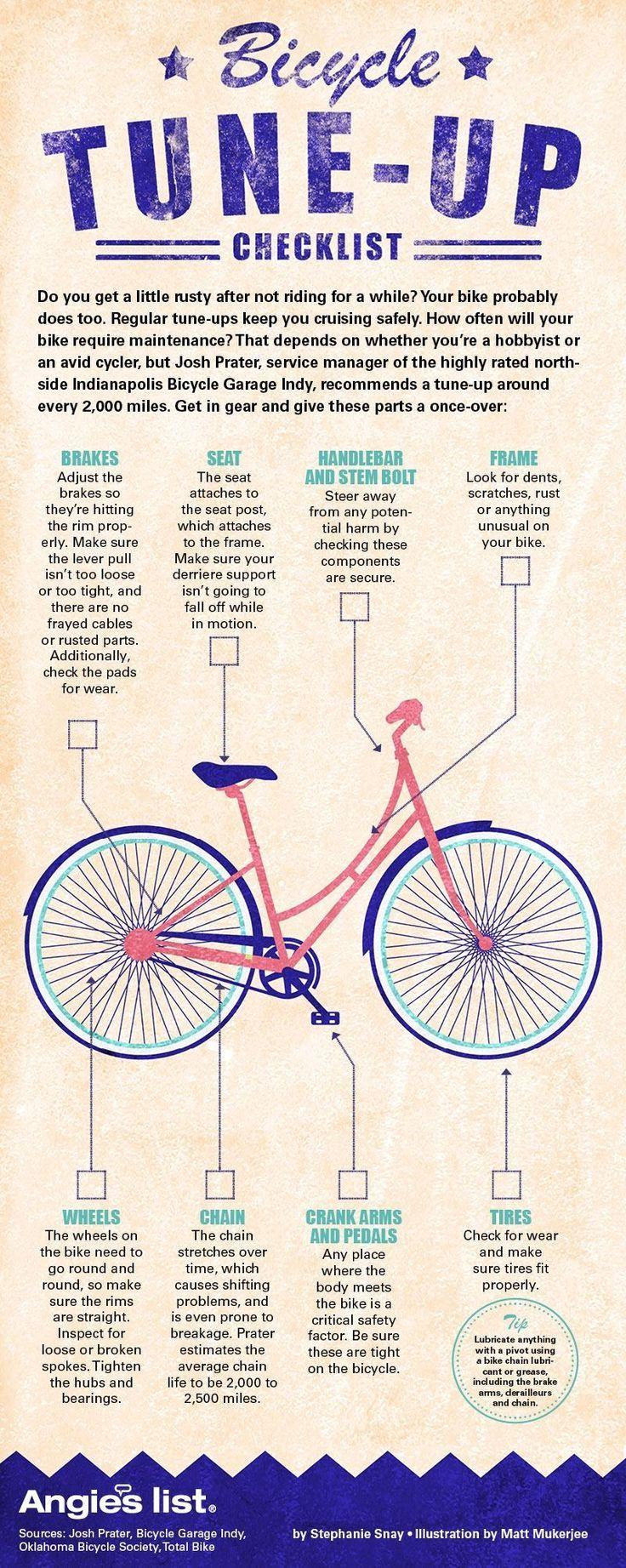 Bike Tune Up Checklist Bicycle Maintenance Bike Accessories