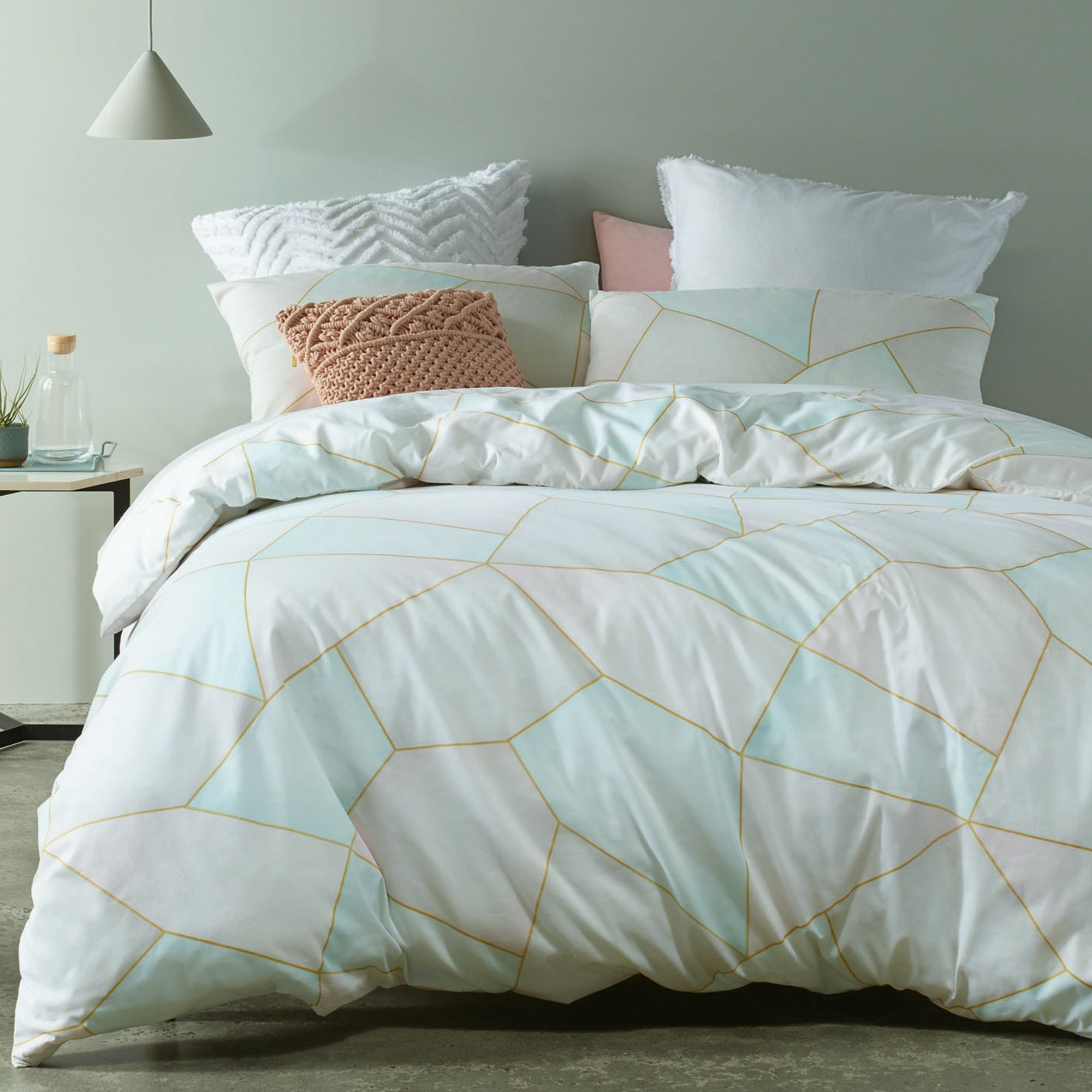 Geo Printed Quilt Cover Set Temple & Webster Quilt