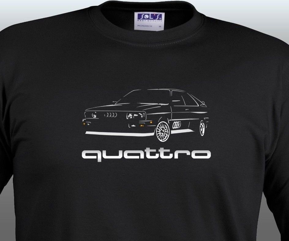 audi quattro t shirt classic rally legent sport rs4 tt s. Black Bedroom Furniture Sets. Home Design Ideas