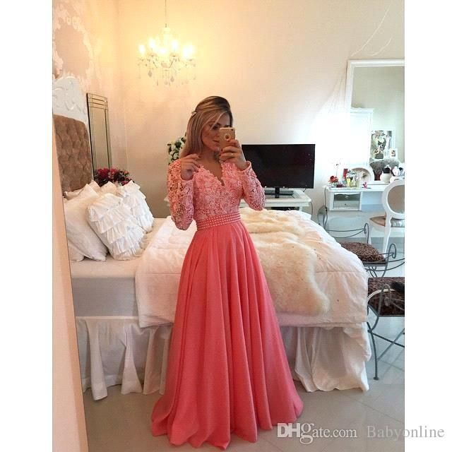 Lace Long Prom Dresses ,muslim Islamic Wedding Dre
