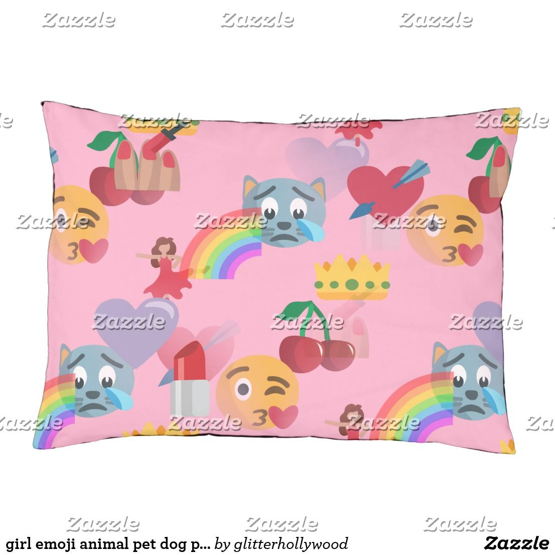 girl emoji animal pet dog puppy bed Pets