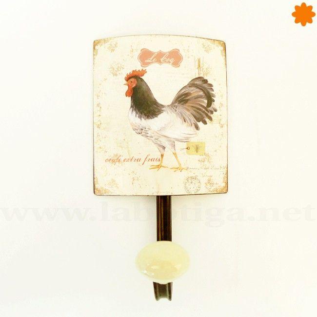 Perchero original Le Coq fabricado con trozos metálico para la pared ...