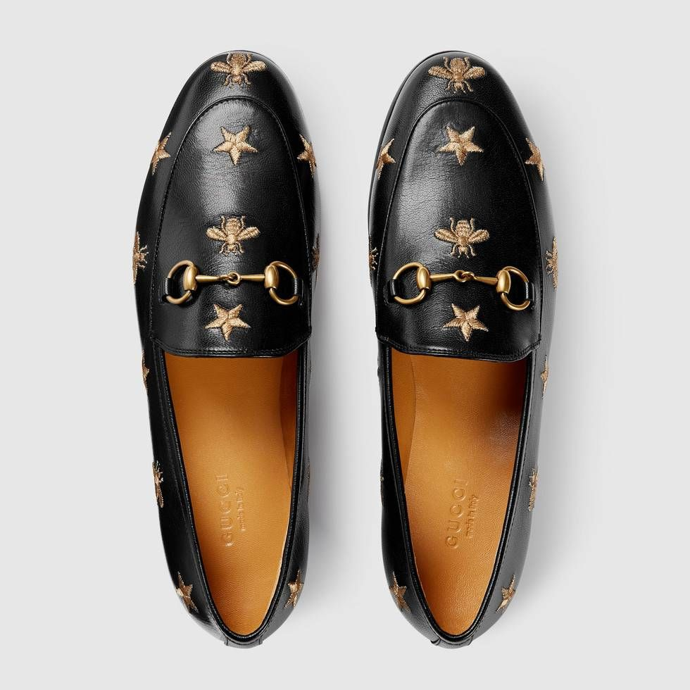 e9a0b0b5c Gucci Jordaan embroidered leather loafer in 2019 | Luxury Love ...
