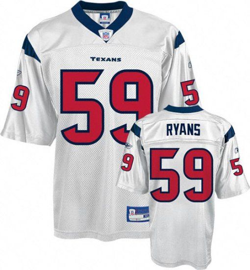 cheap for discount 8778e 19eb3 White Demeco Ryans Jersey, Houston Texans #59 NFL Jersey ID ...