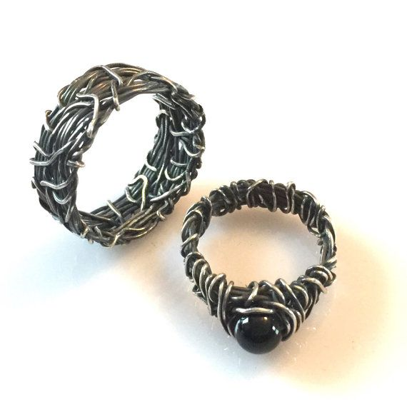 His And Hers Wedding Rings Matching Wedding Bands Vintage Etsy Skull Wedding Ring Wedding Ring Sets Vintage Gothic Wedding Rings