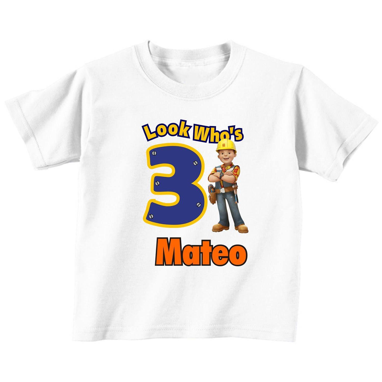 Bob the Builder Birthday Custom t-shirt (Different Colors) | Bob el ...