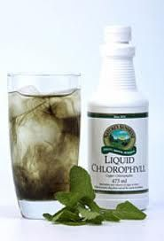 chlorophyll with mint is easier to drink. no juice for me, it just adds calories.