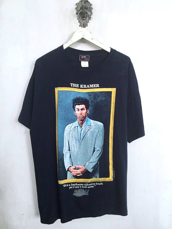 Vintage 1997 The Kramer shirt MEDIUM jerry seinfeld tv show sit com BxO3OKeh