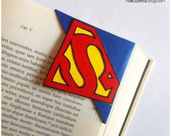 Marcap ginas de esquina de superman supergirl ideas - Marcapaginas de esquina ...