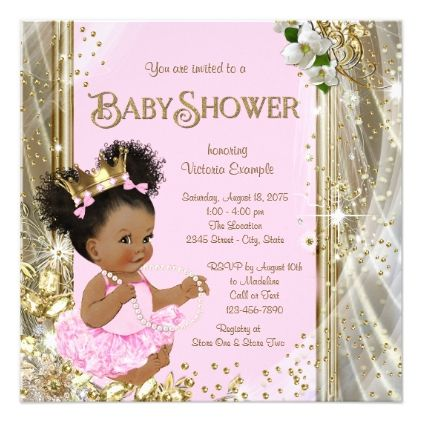 African american princess baby shower invitations shower african american princess baby shower invitations invitations custom unique diy personalize occasions negle Choice Image