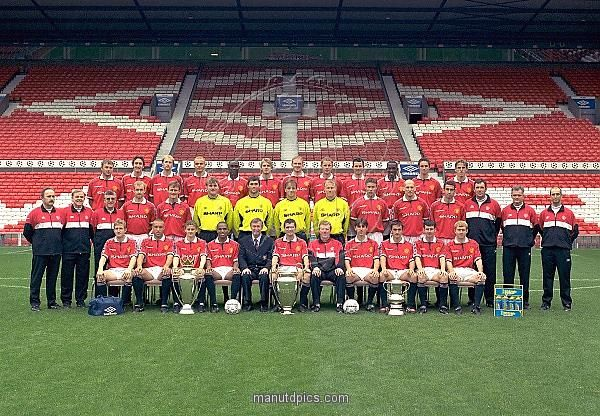 1999 Manchester United Squad Treble Dream Ggmu Manchester United Manchester United Football Club Manchester United Football
