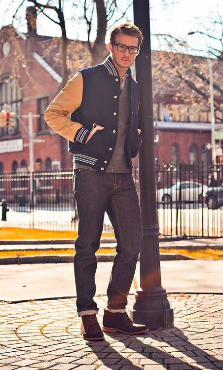 I Love A Varsity Jacket For Men Manly Man Pinterest Man Style And Man Outfit