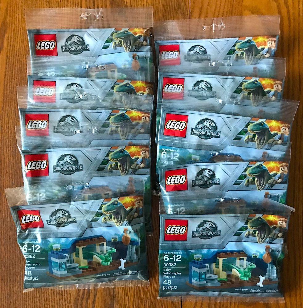 Lot of 5 LEGO Jurassic World 30382 Baby Velociraptor Playpen Polybag
