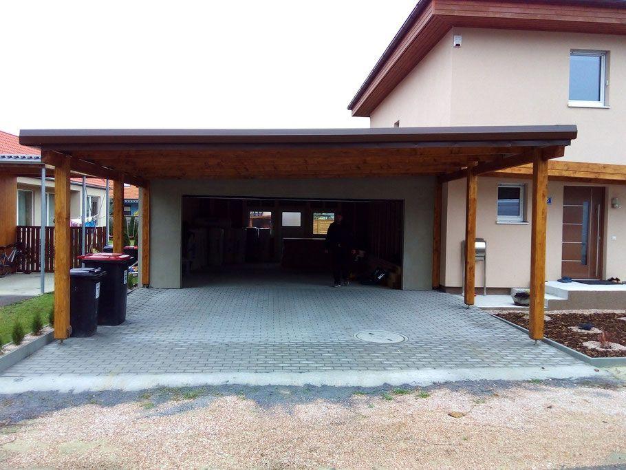 Stadtvilla mit carport und garage  Carport - Terrassendach - Überdachung - Garage - Nebenraum ...