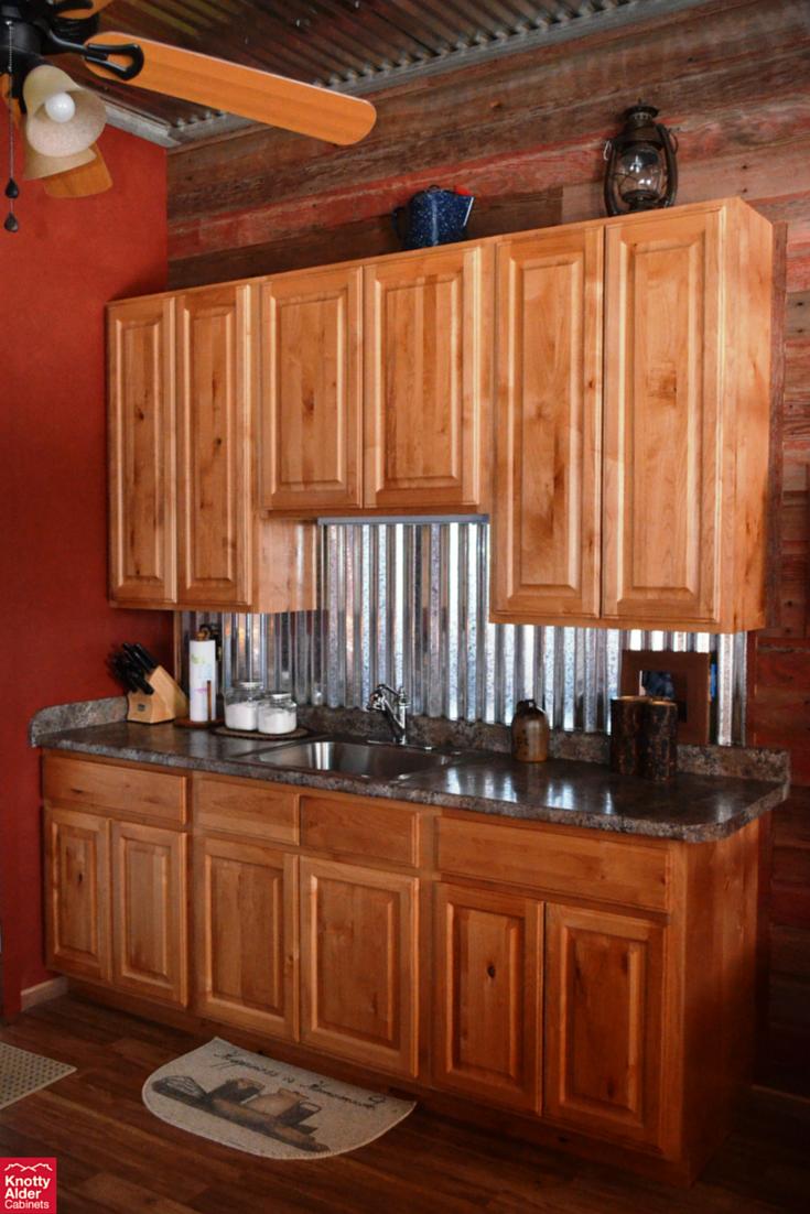 Best Knotty Alder Kitchen Cabinets Dark Granite Counter Tops 400 x 300