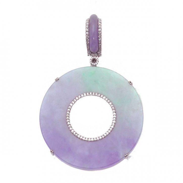 Jade and diamond pendant by David Lin