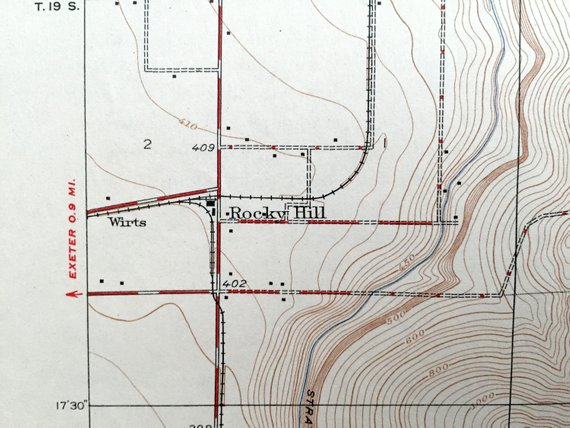 Hill Topographic Map.Antique Rocky Hill California 1927 Us Geological Survey Topographic