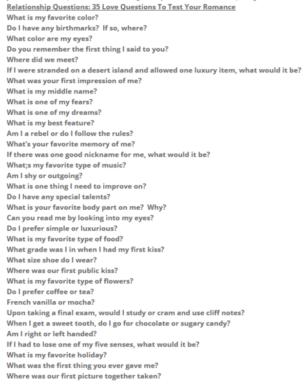 Personal questions to ask someone youre dating