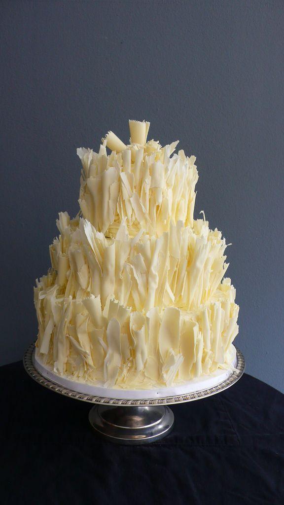 Shaved White Chocolate (carrot cake) Wedding cake | Chocolate carrot ...