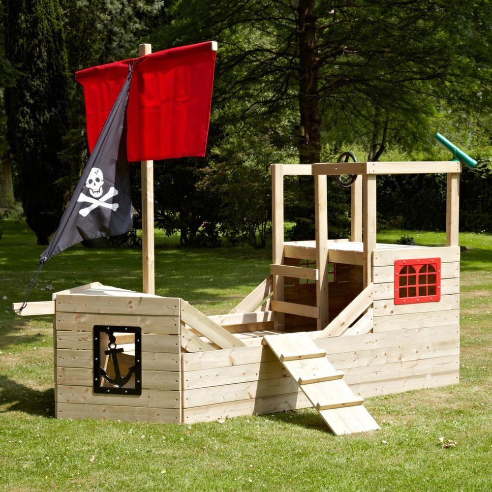 Cabane bateau pirate galleon en bois sur cabanes pour for Cabane pour les enfants