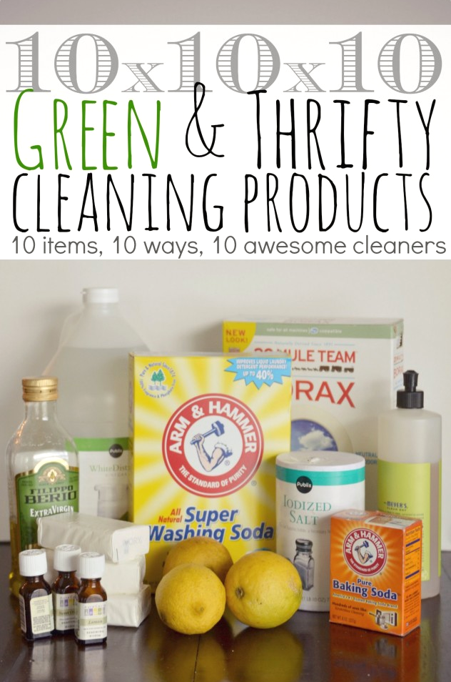 Green & Thrifty Cleaning Products | Household items, Free printable ...