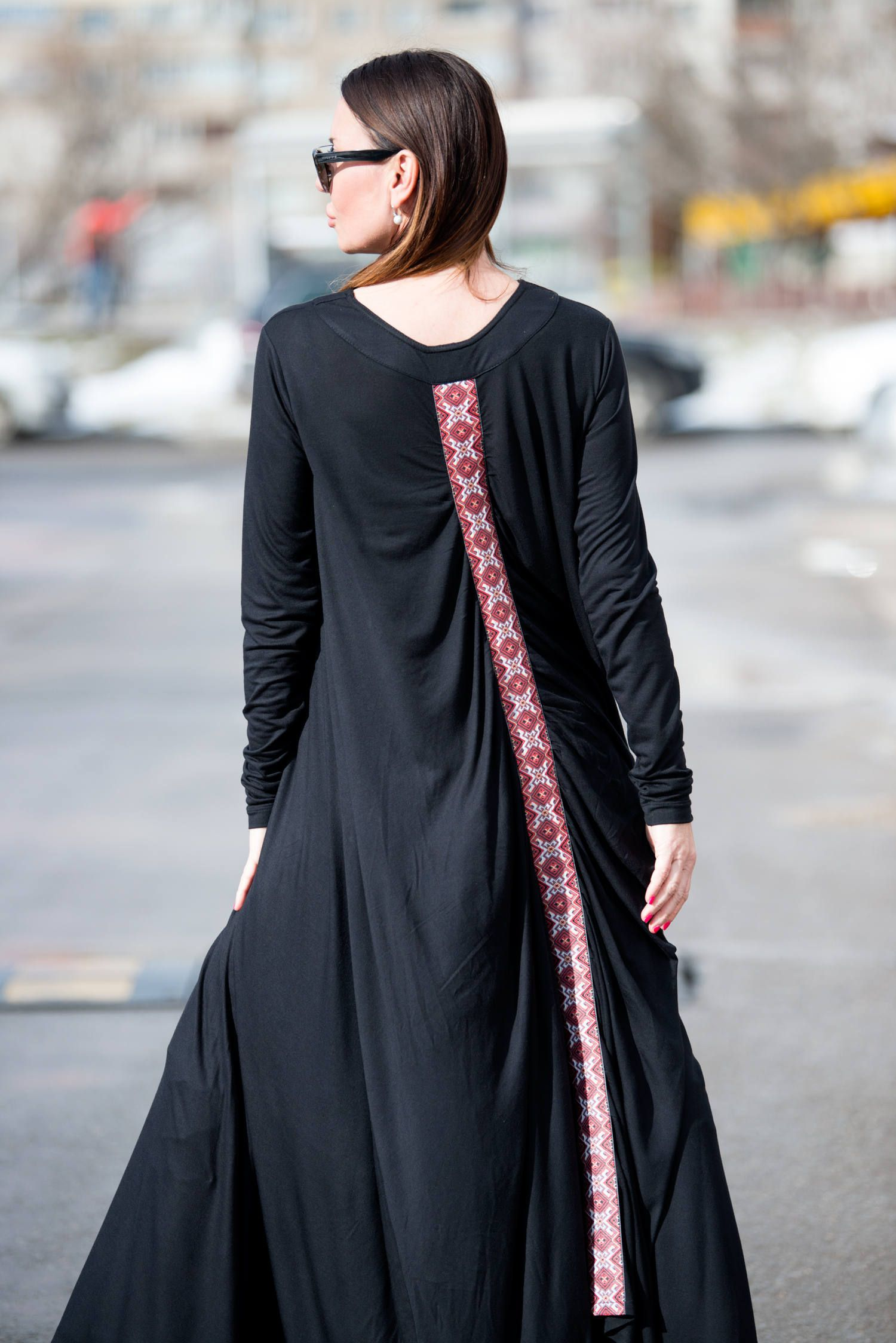 Black loose fit dresstrendy plus sizeloose black cotton