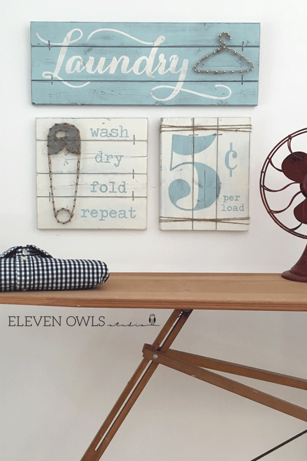 Wouldn't this laundry room decor make your laundry room