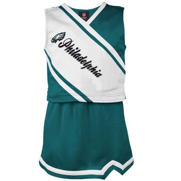 Philadelphia Eagles Toddler Girls Team Spirit 2-Piece Cheerleader Set -  Midnight Green/White