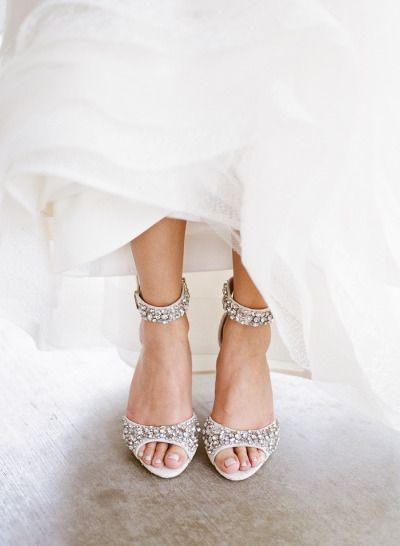 Seriously, these shoes! http://www.stylemepretty.com/2015/01/27/peony-filled-spring-garden-wedding/ | Photography: Christina McNeill - http://www.christinamcneill.com/