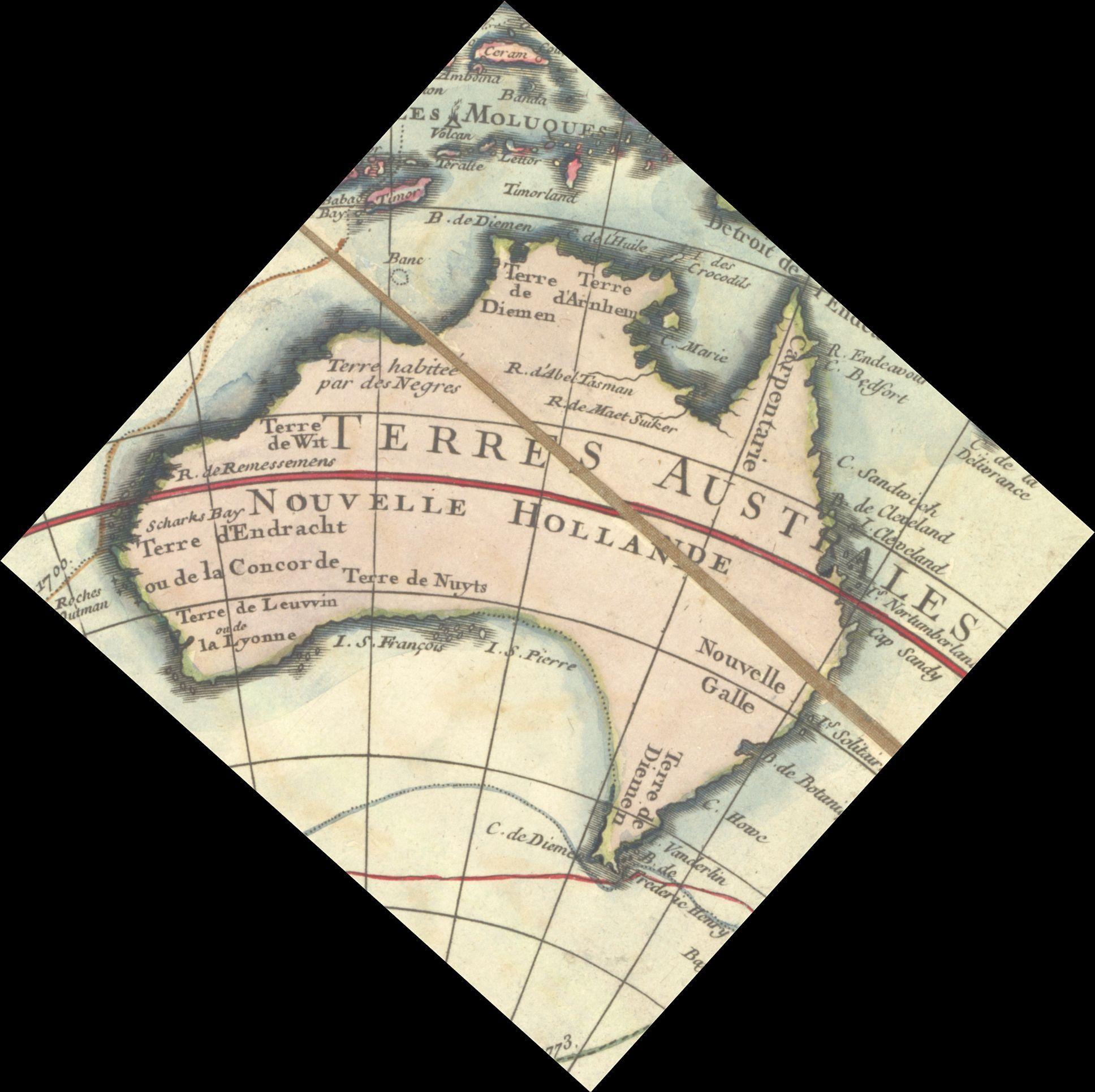 Map Of Australia 1700.1782 Map Of Australia Maps Of Australia Australasia Pinterest