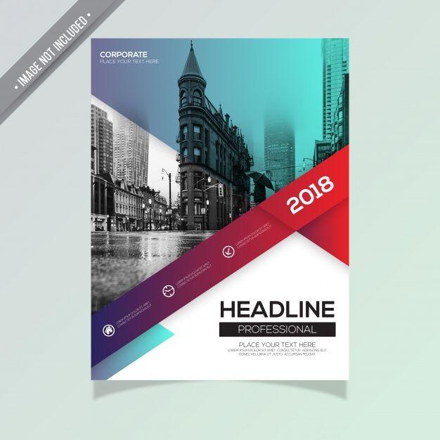 Creative business brochure Free Vector Poster Pinterest