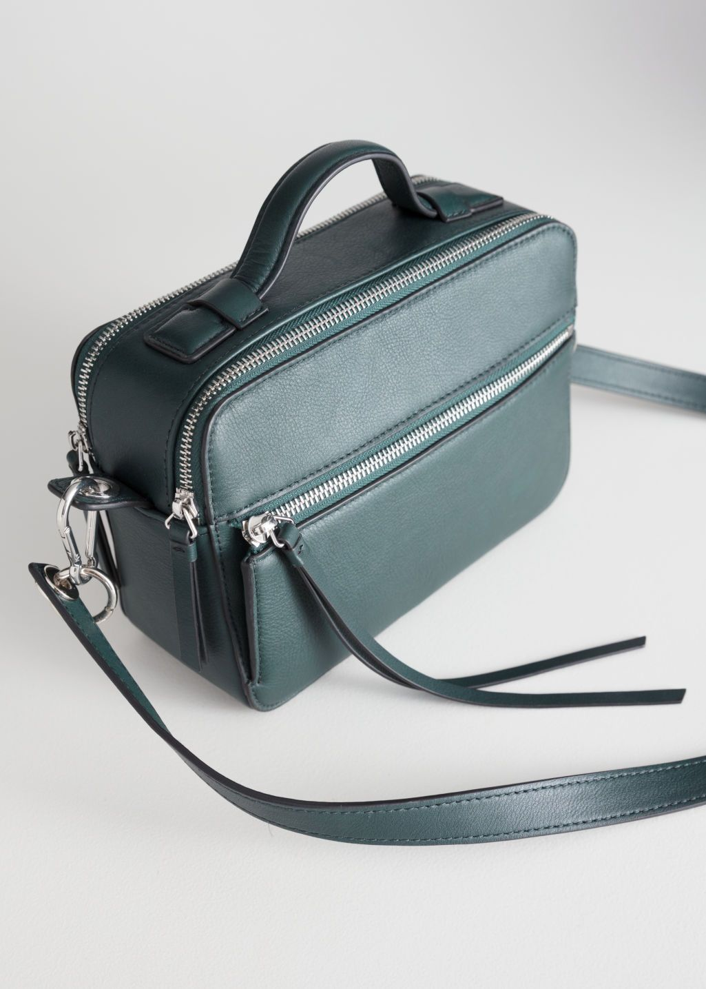b811463fe067 Back image of Stories in green Bag Closet, Leather Handle, Green Bag, Casual