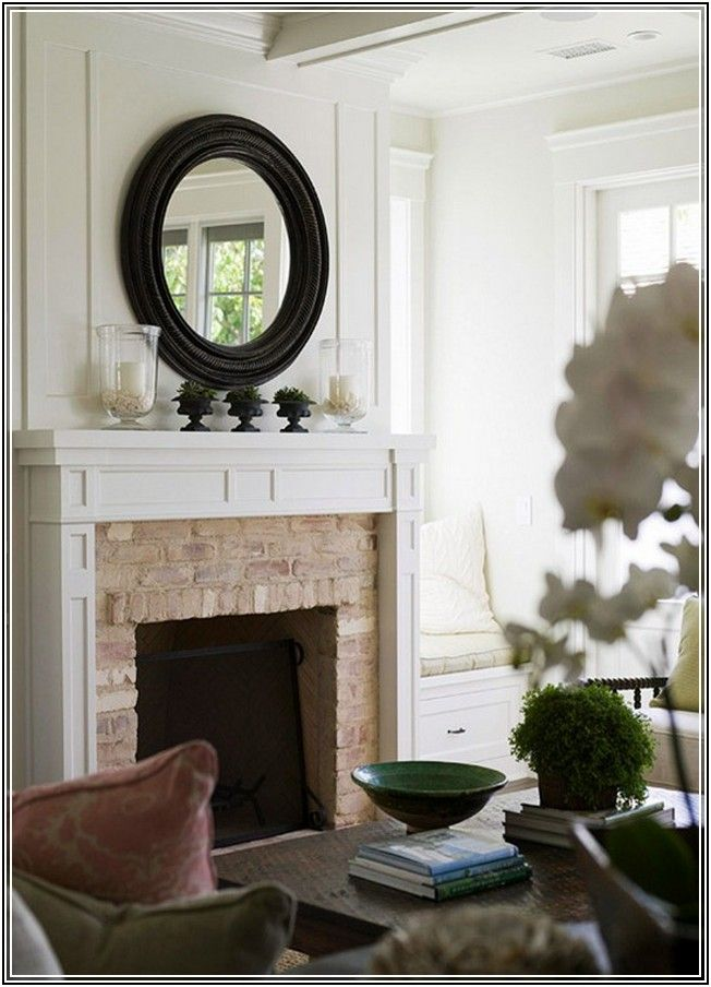 round mirror above fireplace | Posts related to Round ...