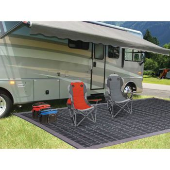 World Famous™ Reversible Black/Grey RV, Patio And Camp Mat Costco $60