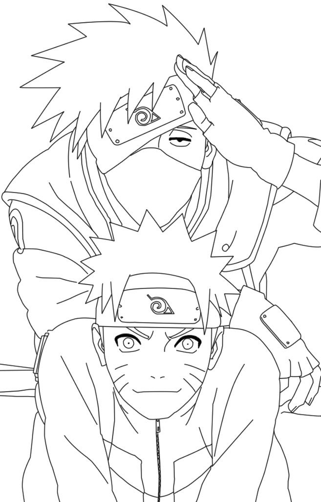 Naruto And Kakashi Coloring Pages Coloriage Naruto Coloriage