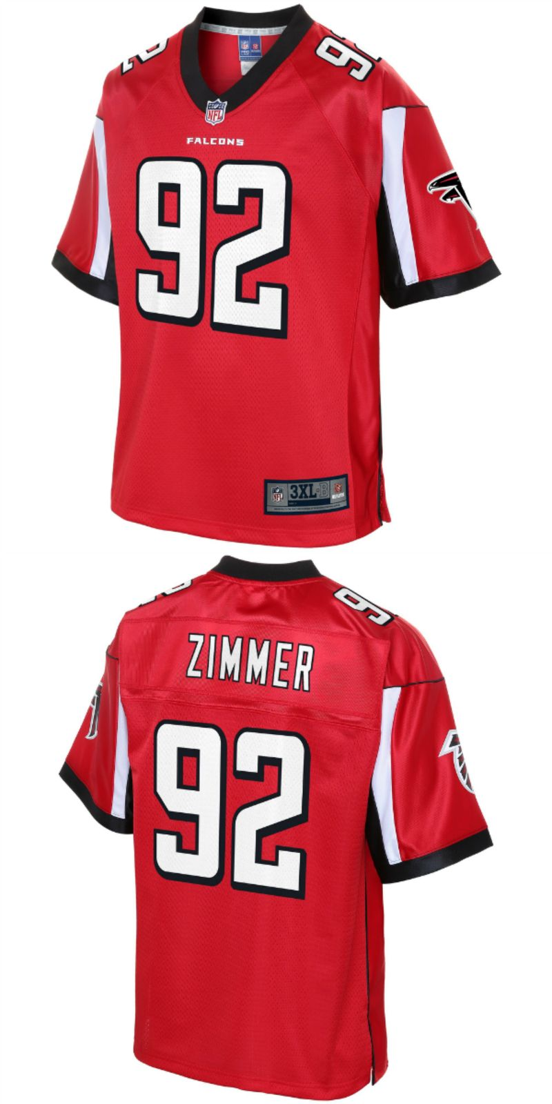 reputable site 84765 bec6a Justin Zimmer Atlanta Falcons NFL Pro Line Big & Tall Player ...