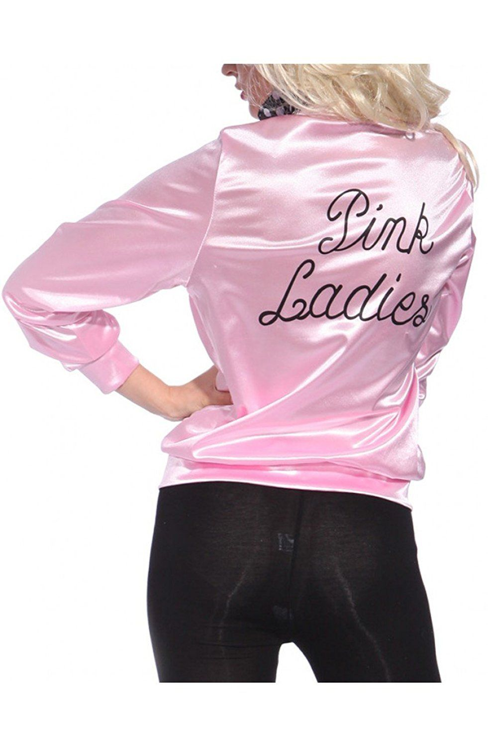 Grease Pink Ladies Adult Satin Jacket at Amazon Women's Coats Shop ...