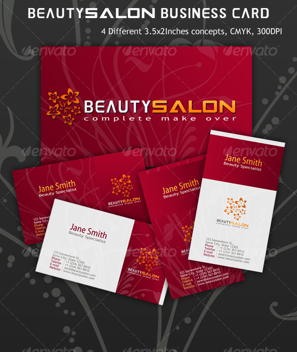 Beauty Salon Business Card : Salon business, Business ...
