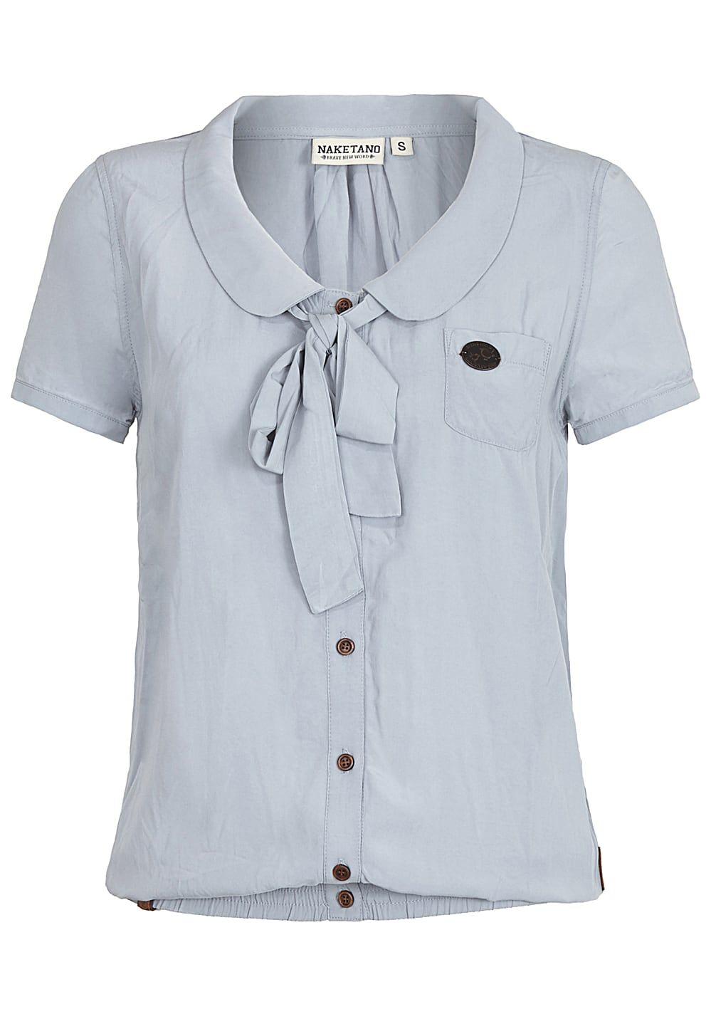 brand new ba0d6 95f13 NAKETANO Kurz Kacken III - Bluse für Damen - Blau - jetzt ...