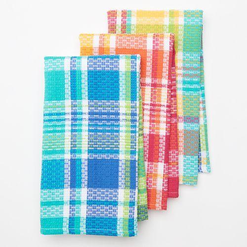 Sonoma Goods For Life 3 Pc Rainbow Kitchen Towel Set Rainbow