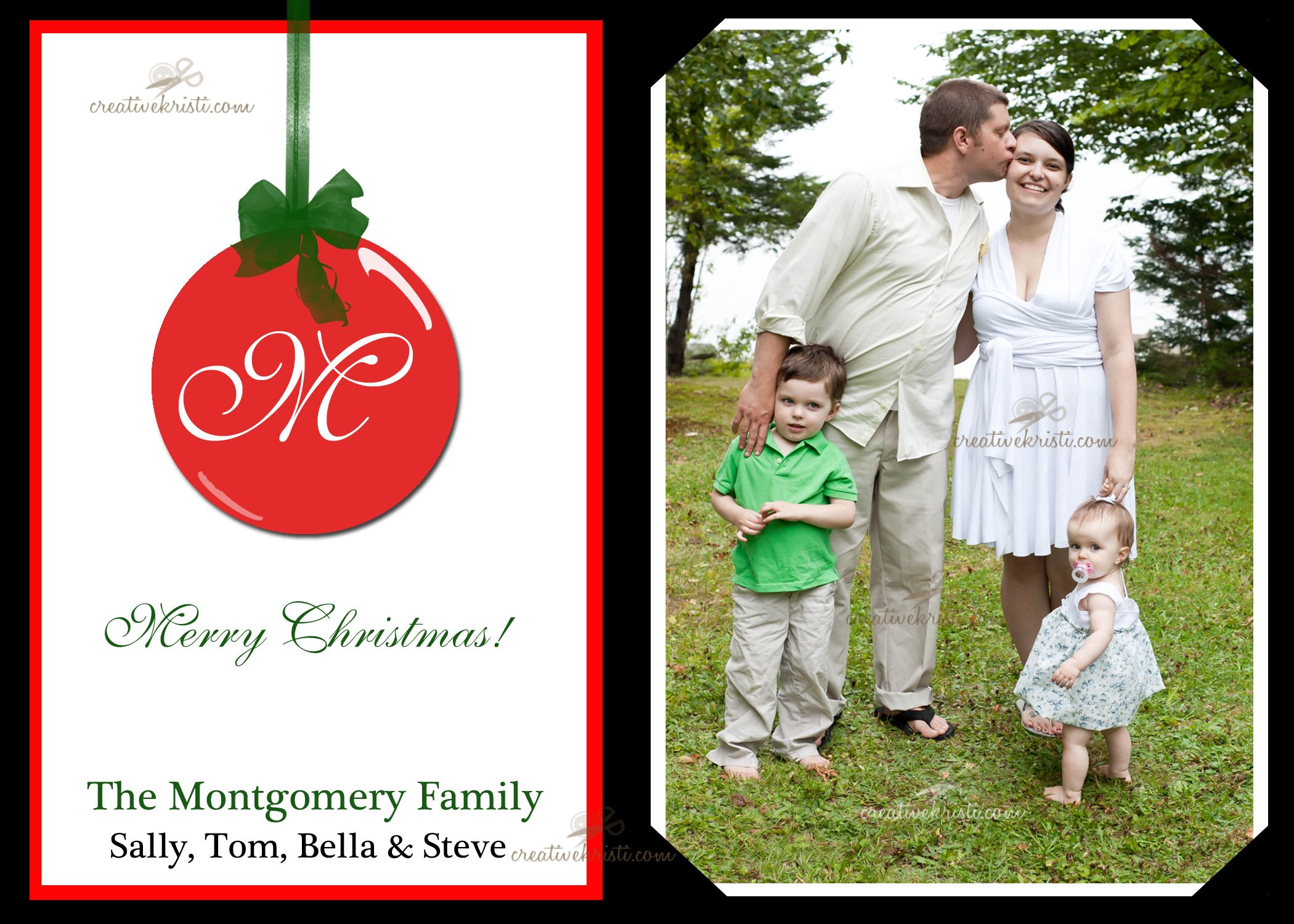 Free X Christmas Card TemplateDownload Add Your Photo And