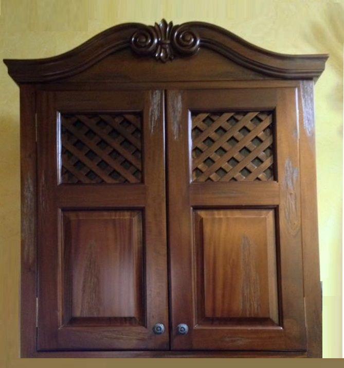 pensile per cucina rustica, realizzato in legno massello | Antarte ...